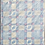 Twin mattress with blue pattern front view