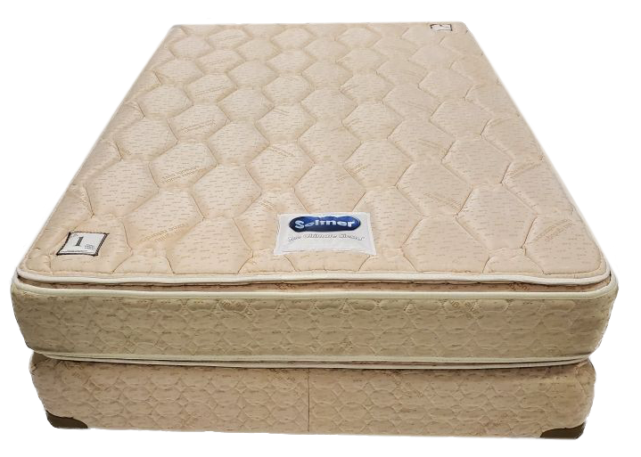 cream colored full size mattress top view