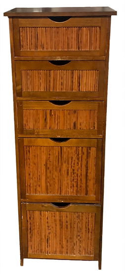 tall 5 drawer cabinet front view