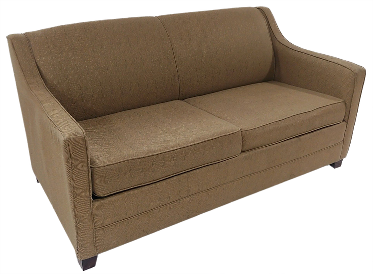 beige sofa bed side view