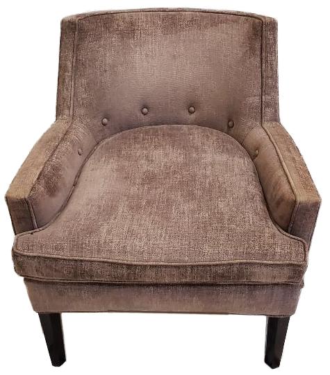 mauve color soft comfort chair front view