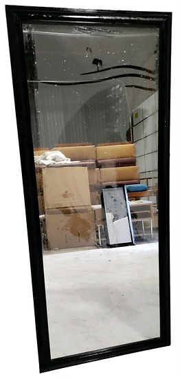 full length mirror in black frame front view