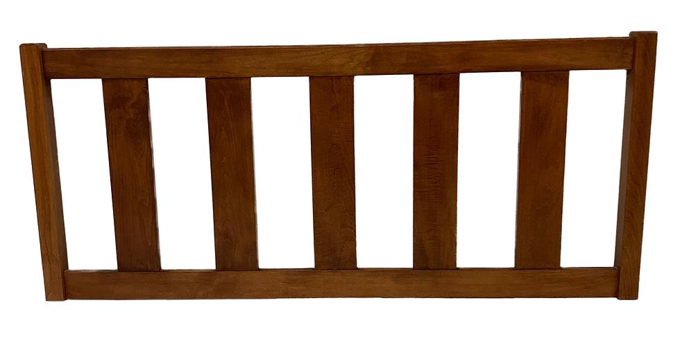 wooden headboard with slats