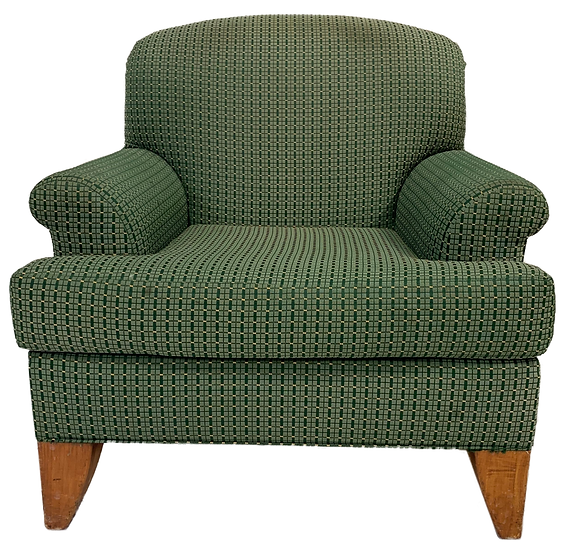 Green comfort chair front view