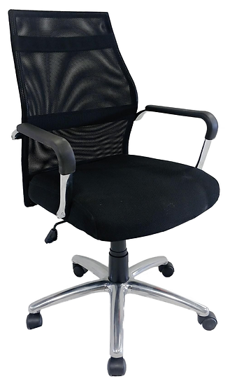 black ergonomic task chair side view