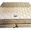 Cream colored king mattress and box spring top view