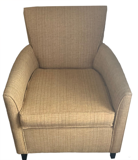 small beige armchair front view