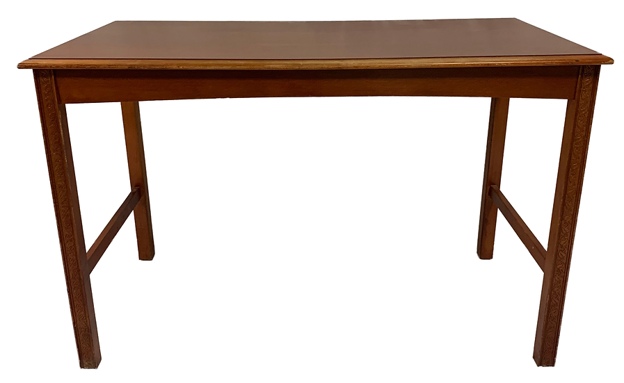brown table front view