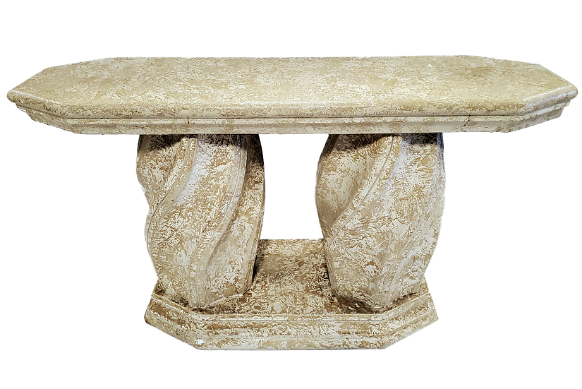 stone sofa table front view
