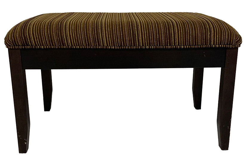 brown and tan striped bench