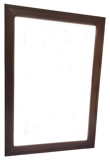 mirror in dark wood frame front view