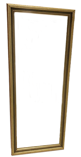 full length gold framed mirror front view
