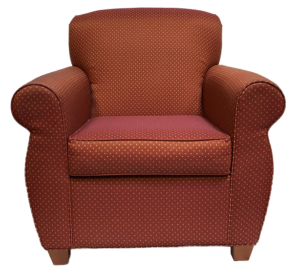 burgundy small polka dot chair