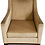 tan armchair front view