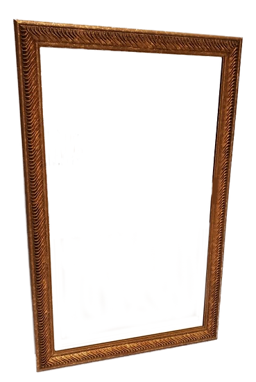 bronze mirror front view