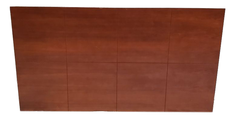 wood wall mount headboard with square pattern front view