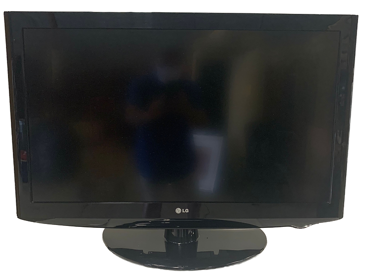 LG flat screen tv with base front view