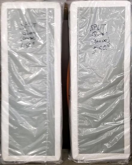 Split queen box springs front view