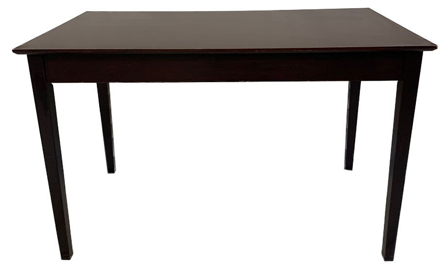 dark wood table/desk front view