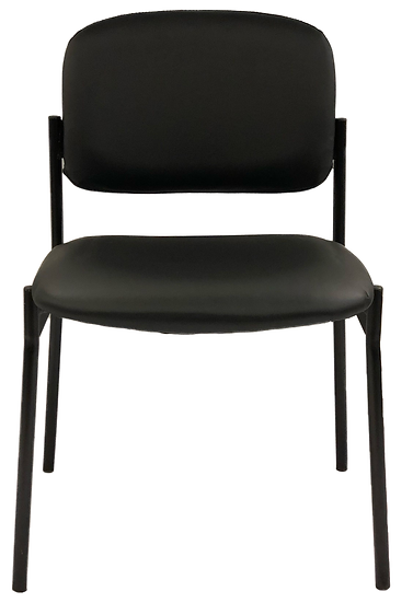 black chair with vinyl seat