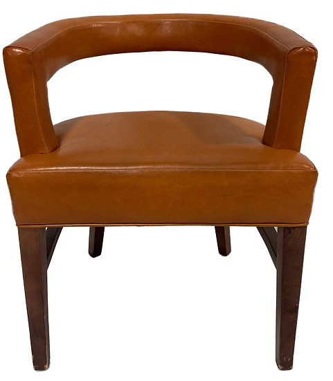 orange barrel chair front view