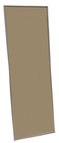 tall mirror with metal frame front view