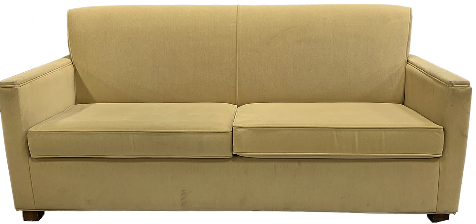front view light yellow sofa bed