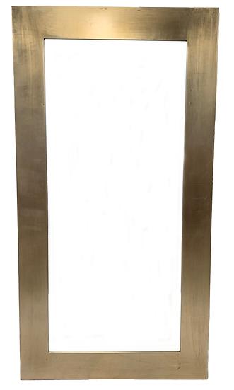 full length silver framed mirror