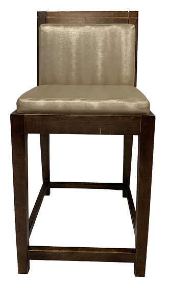 counter stool with gold seat and back