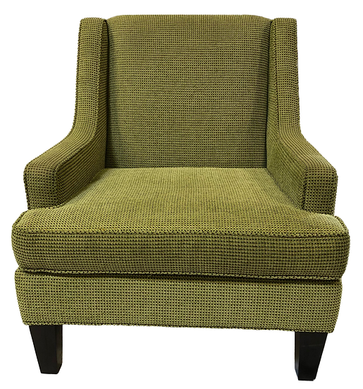 lime green comfort chair front view