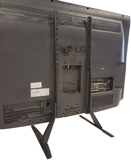 tv on stand back view