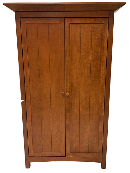wood wardrobe closed front view