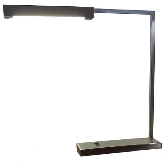 thin metal rectangular table lamp side view