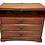 wooden dresser with three drawers front view