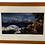 Cleveland skyline by lake art in a wooden frame