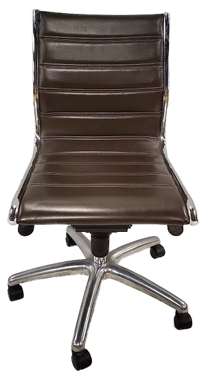 brown ergonomic task chair no arms front view