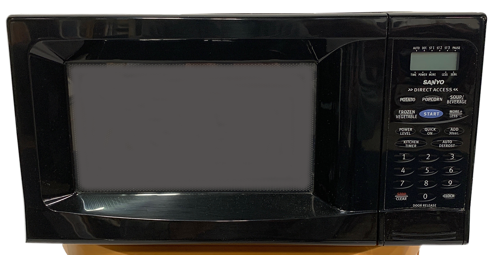 black microwave front view