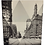 black and white photo of Cleveland on canvas
