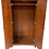 wood wardrobe open front view
