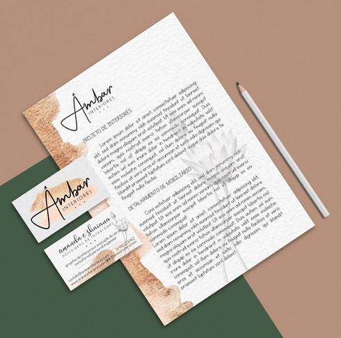 papel timbrado e cartões
