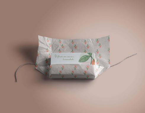 cartão de visitas e papel seda personalizado