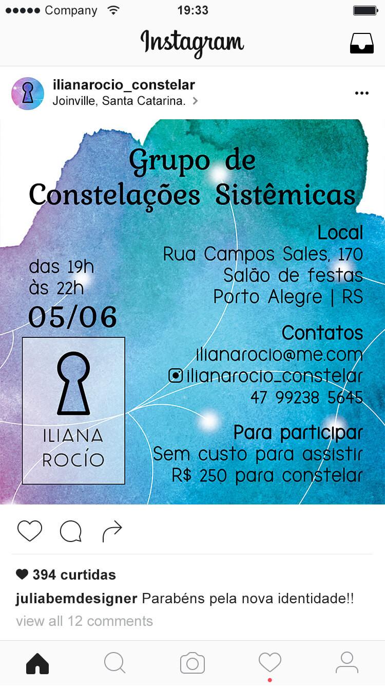 convite postado no instagram