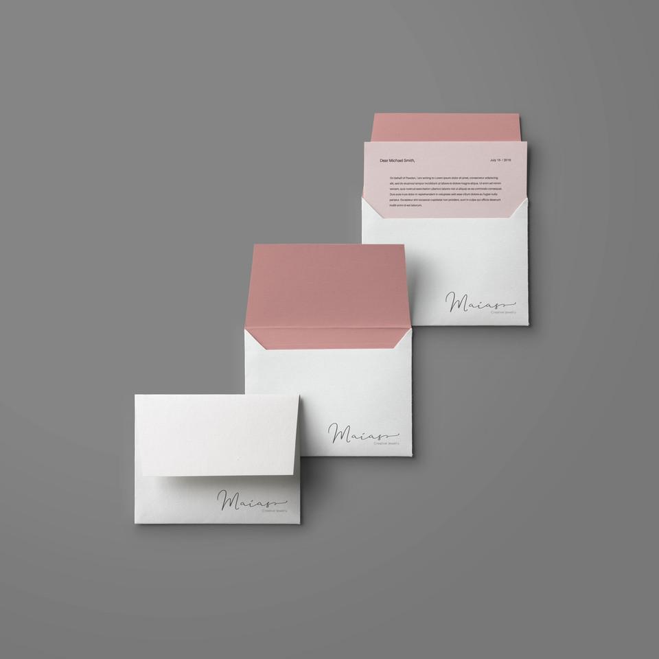 envelope e papel timbrado