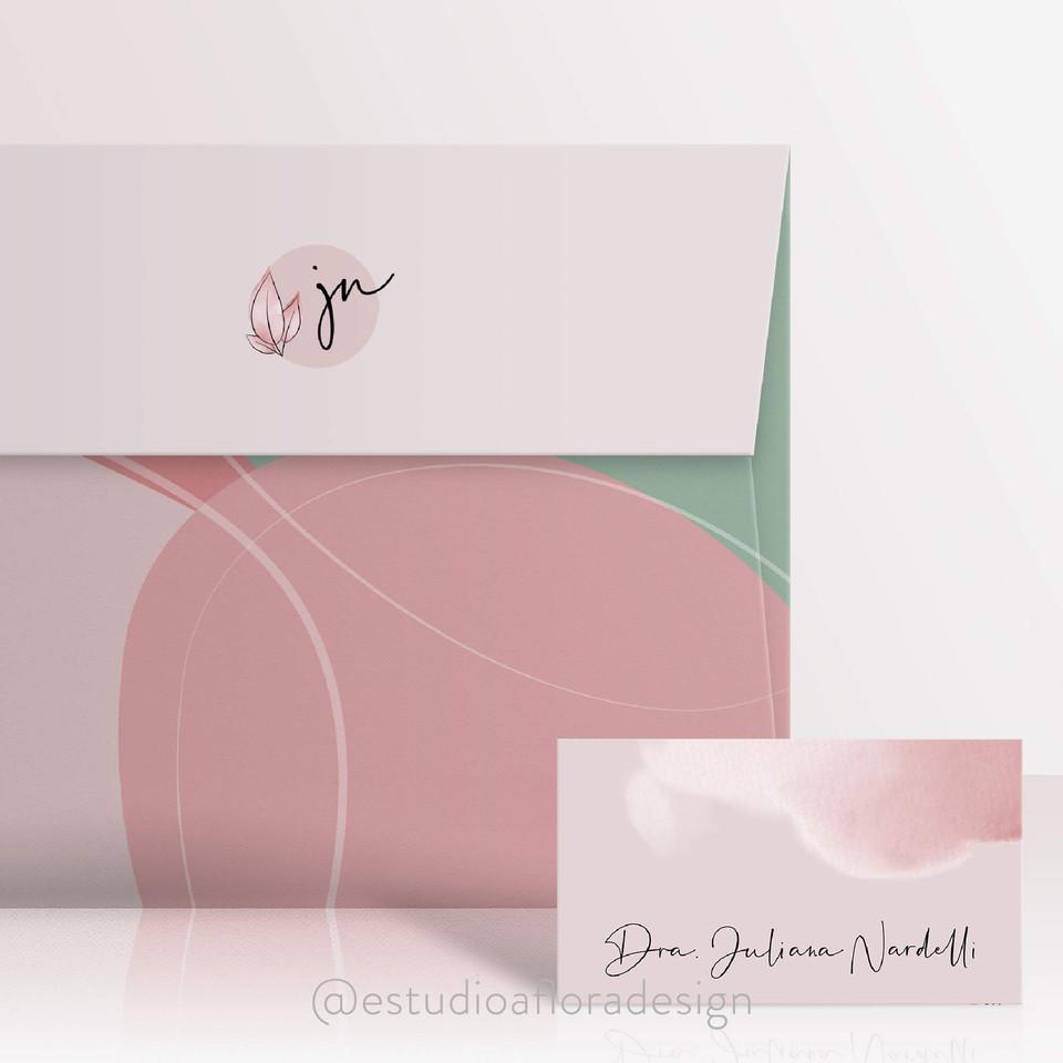 envelope e cartão de visitas