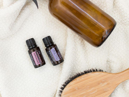 Spray protector de calor con aceites esenciales