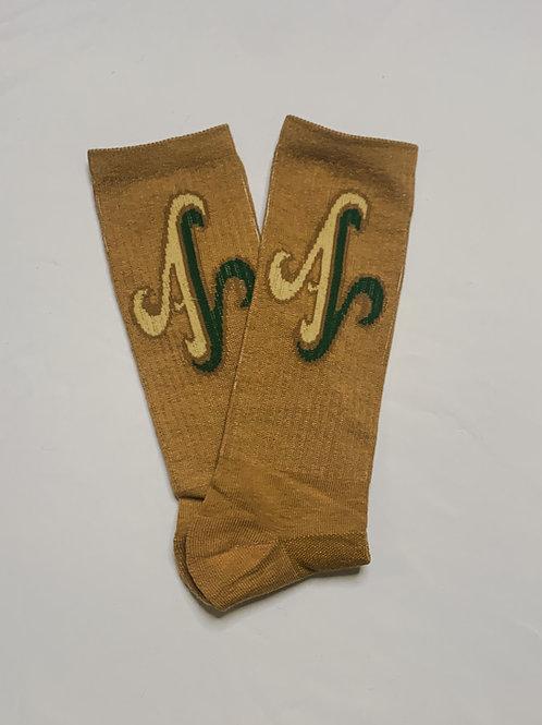 Tan LOGO Crew Socks