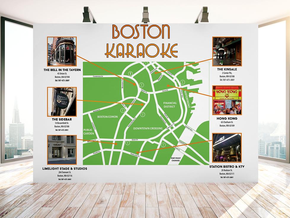 Map Design_Green Images_Boston Karaoke_M