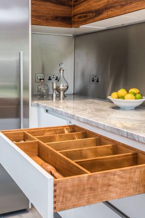 Steven Andrews Bespoke Kitchens - White & Wood