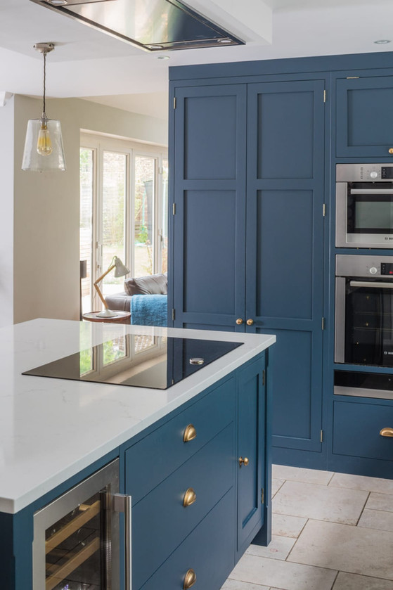 Burnished and Blue - Kitchen by Steven Andrews Bespoke