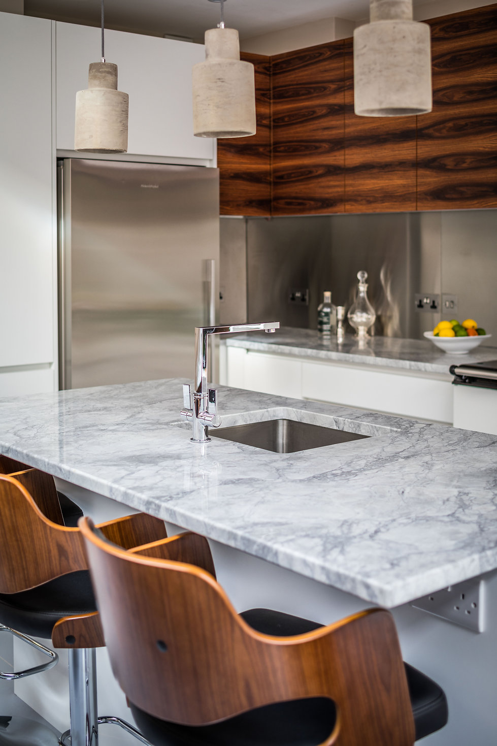 White and Wood - Kitchen by Steven Andrews Bespoke